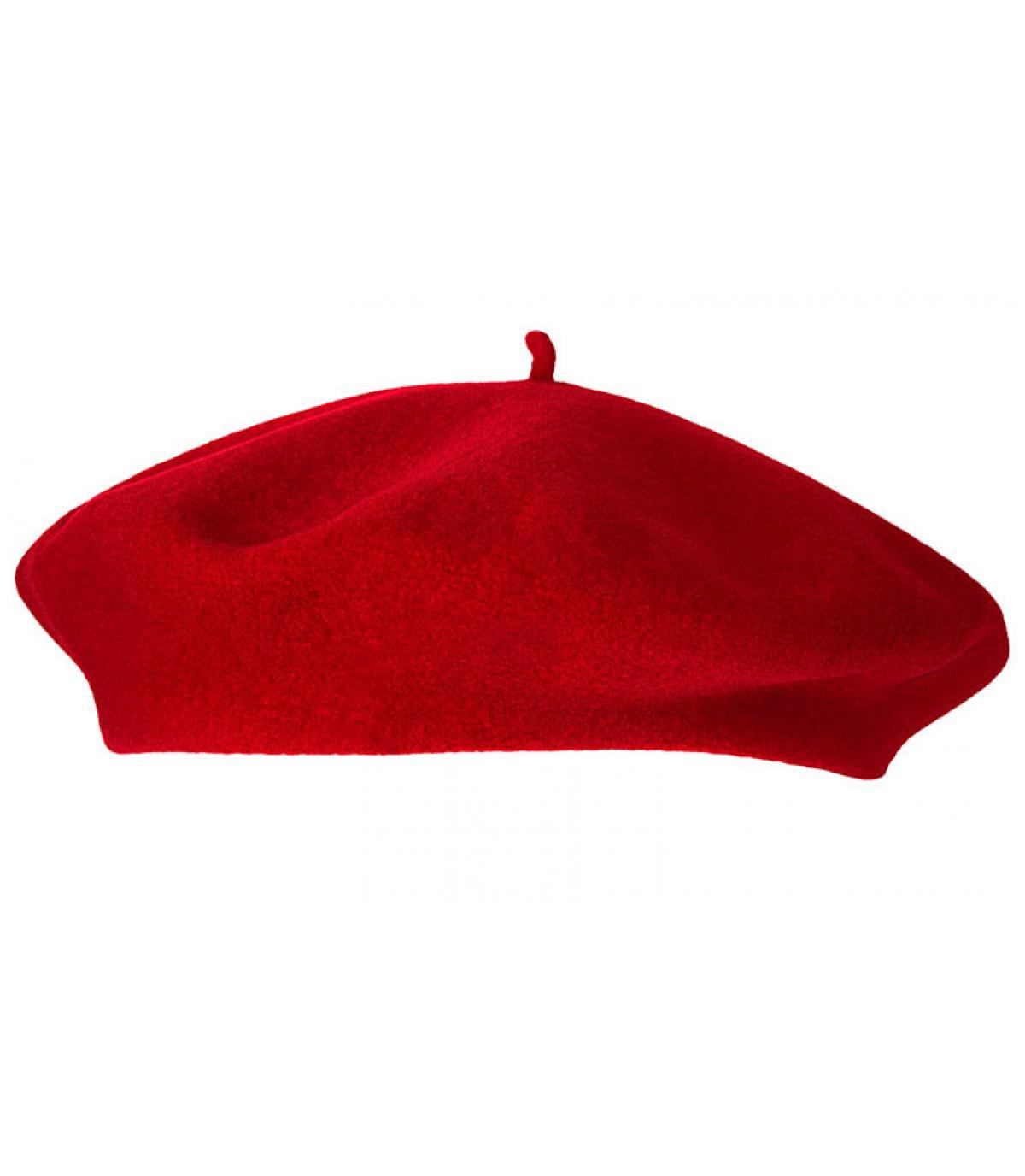 Rood dames baret