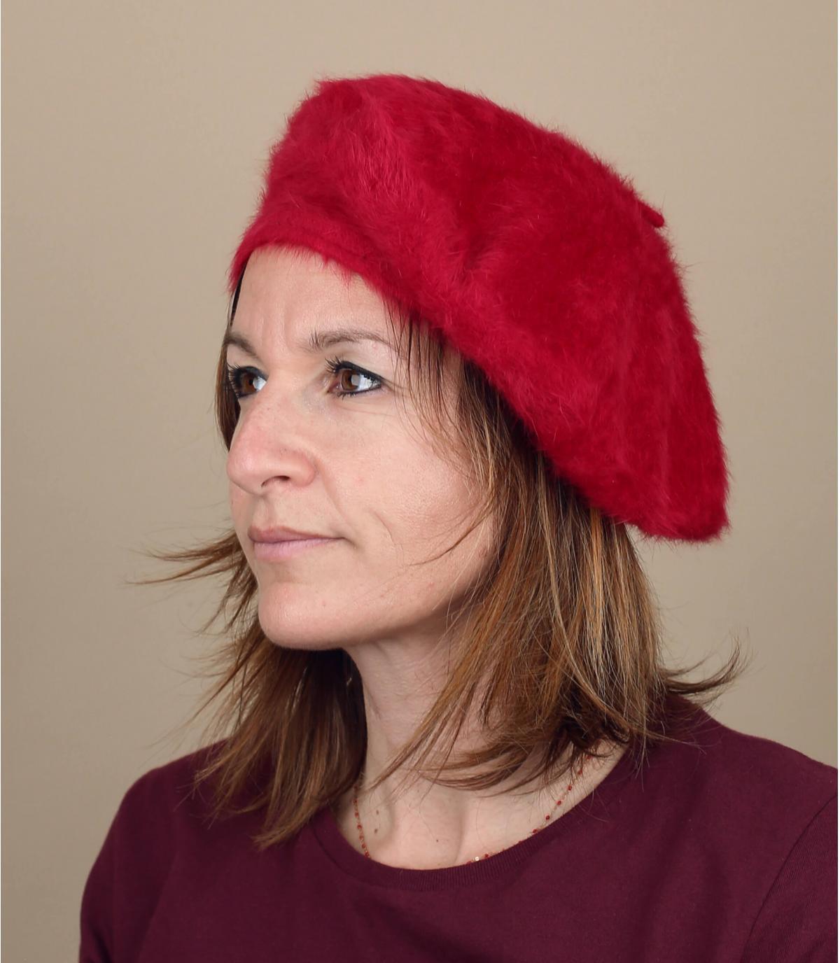 Dames angora baret