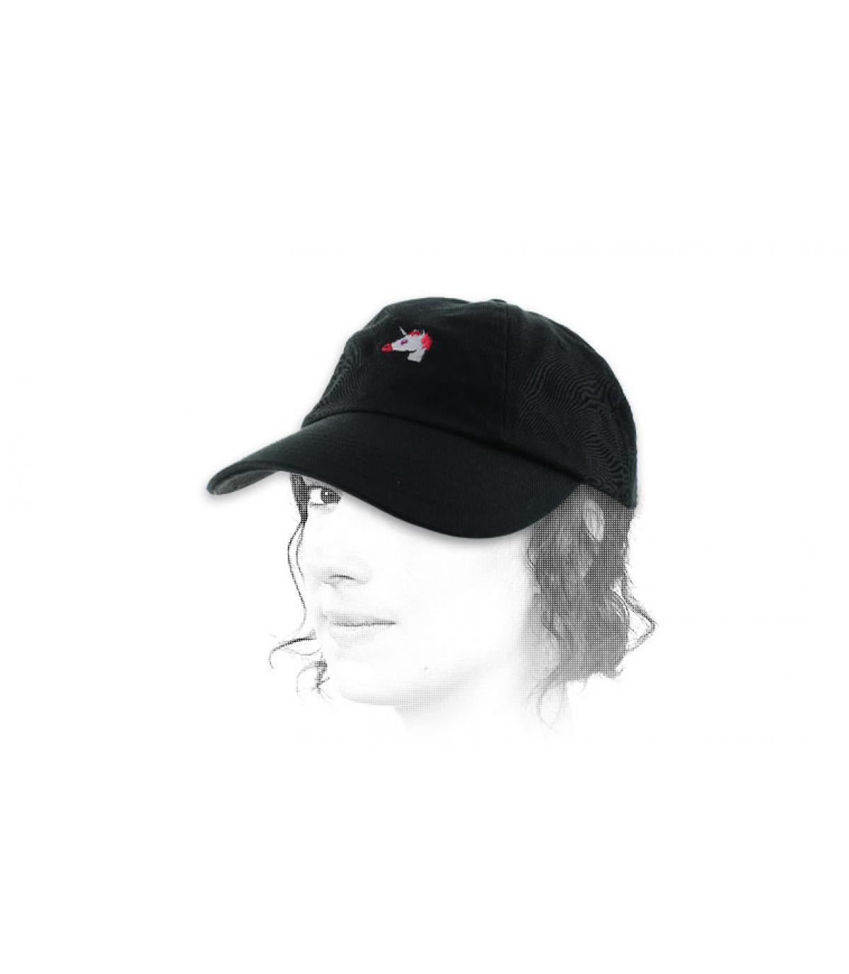 Zwarte Eenhoorn cap