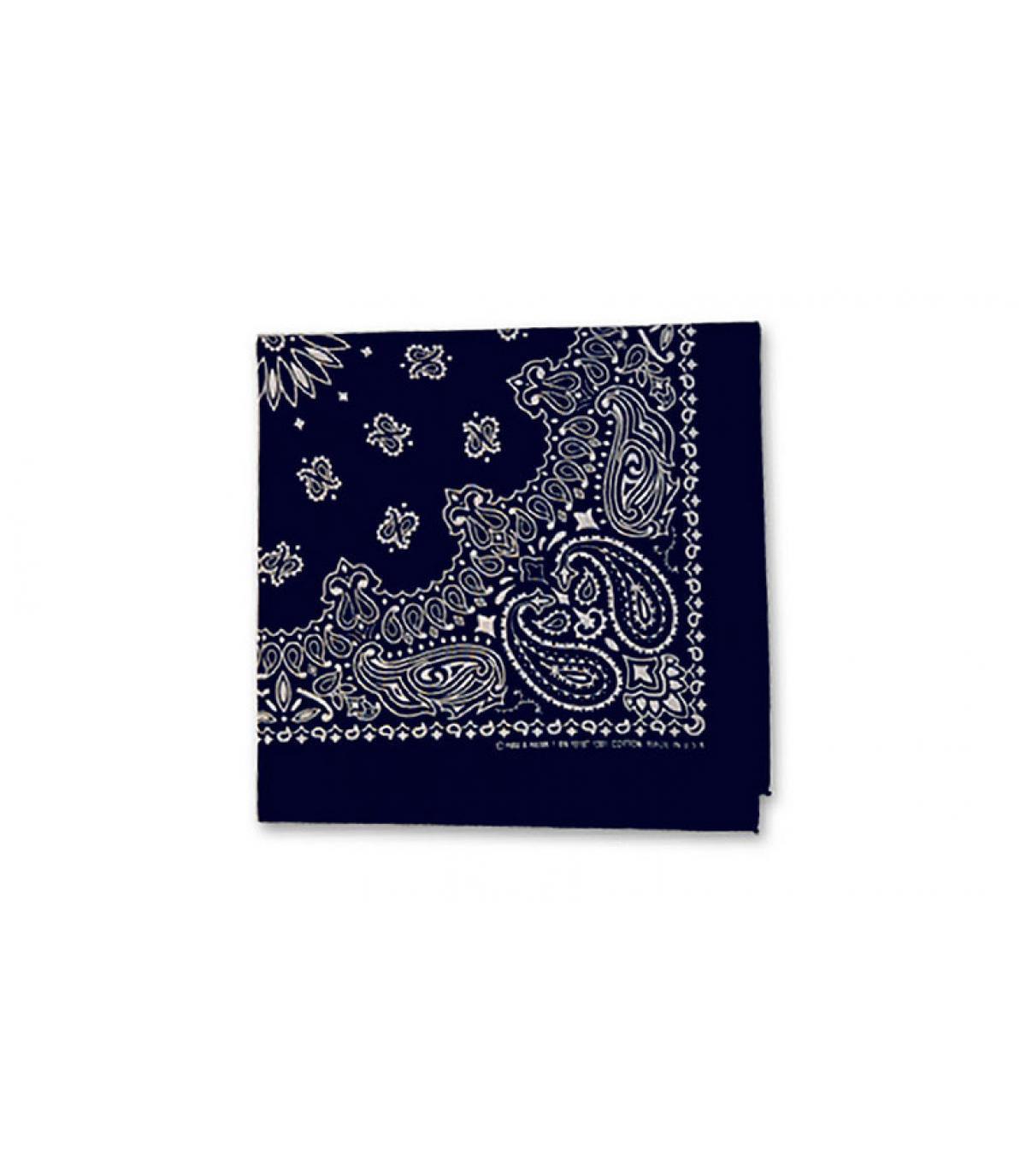 marineblauwe bandana