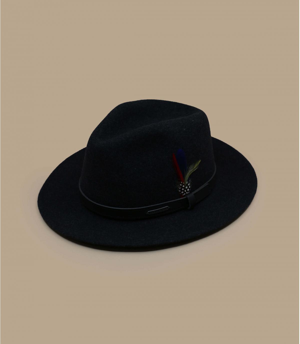 Zwarte wol vilten hoed