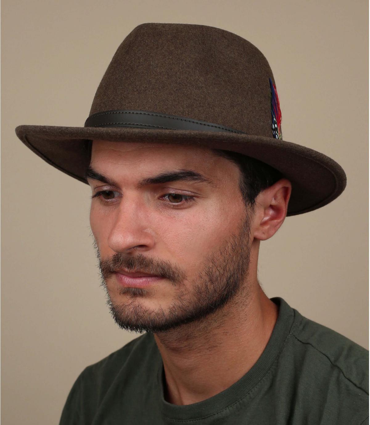 Brown wol vilten hoed