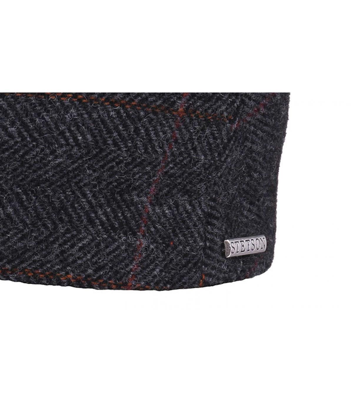 Details Kent wool Earflap grey - afbeeling 3