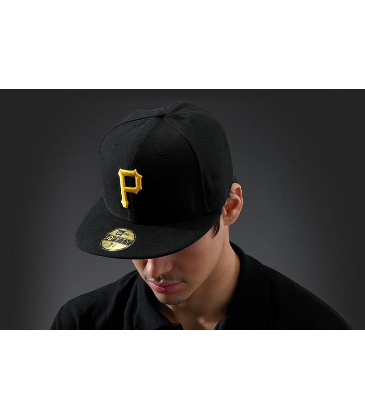Cap Pittsburgh zwart