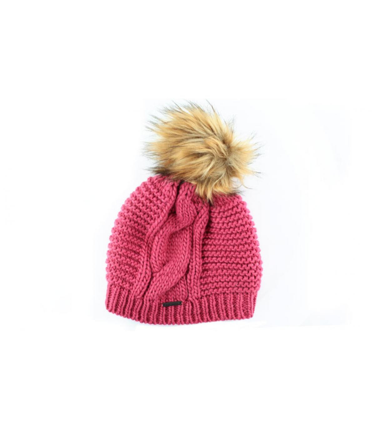 Details Long beanie pompon roswood - afbeeling 2