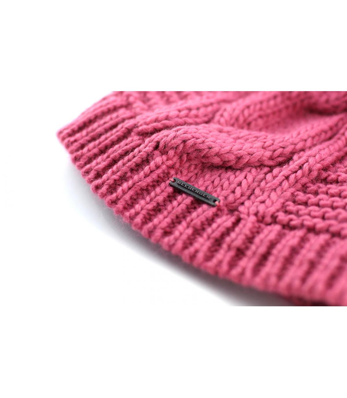 Details Long beanie pompon roswood - afbeeling 3