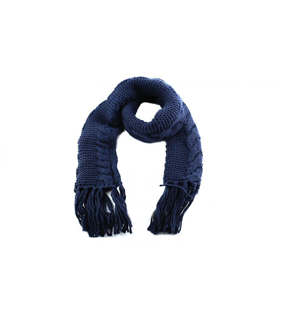 Navy omzoomde sjaal