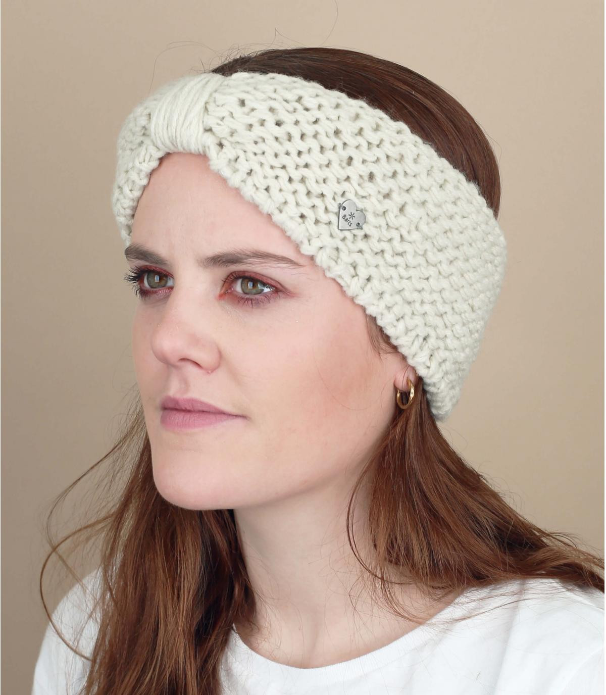 Witte hoofdband bow winter