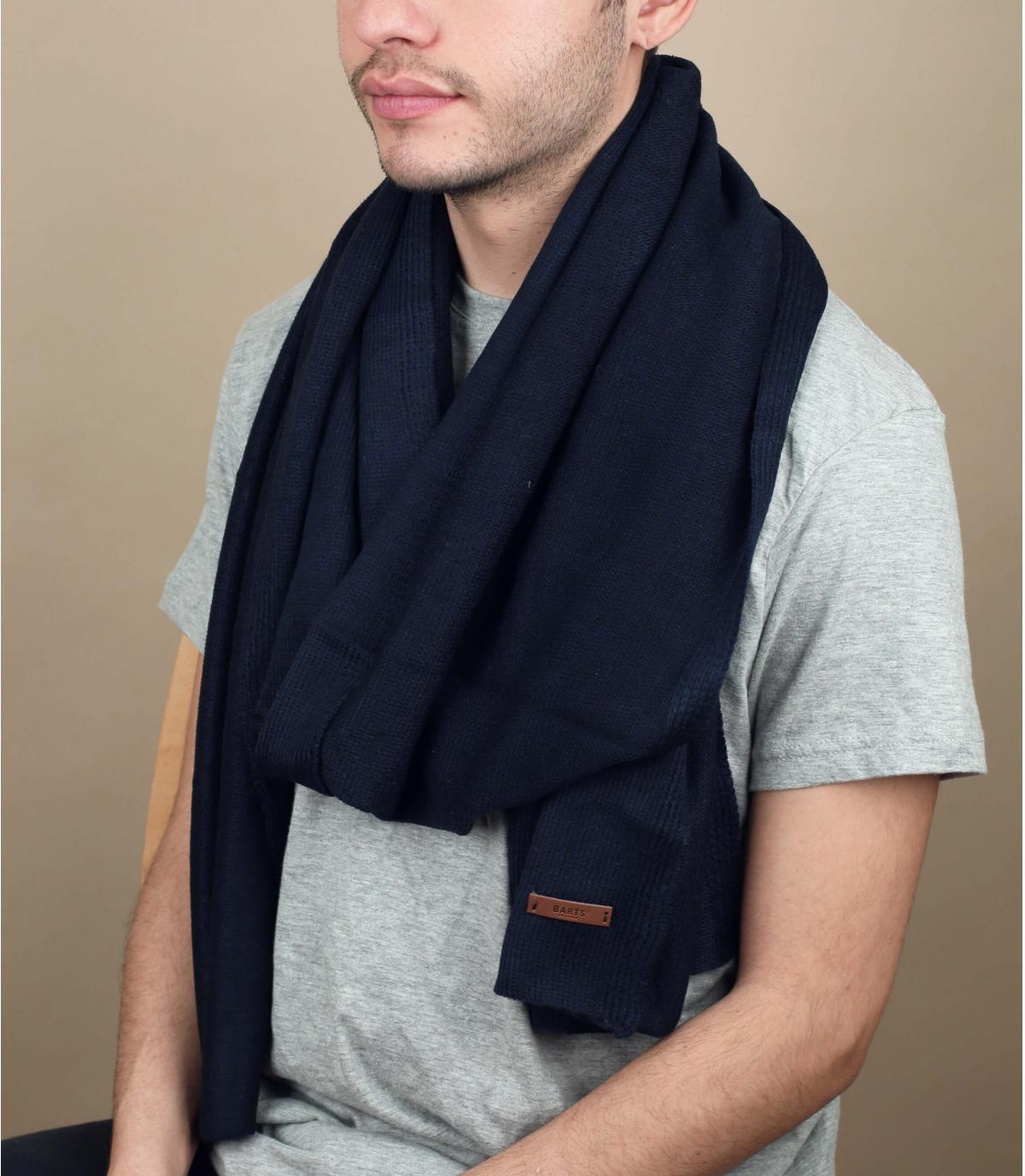 Plain blauwe sjaal