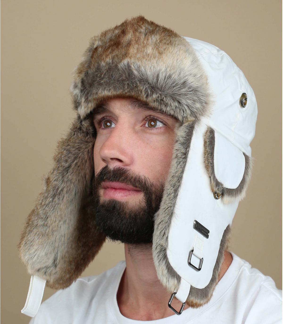 Witte Barts bontmuts