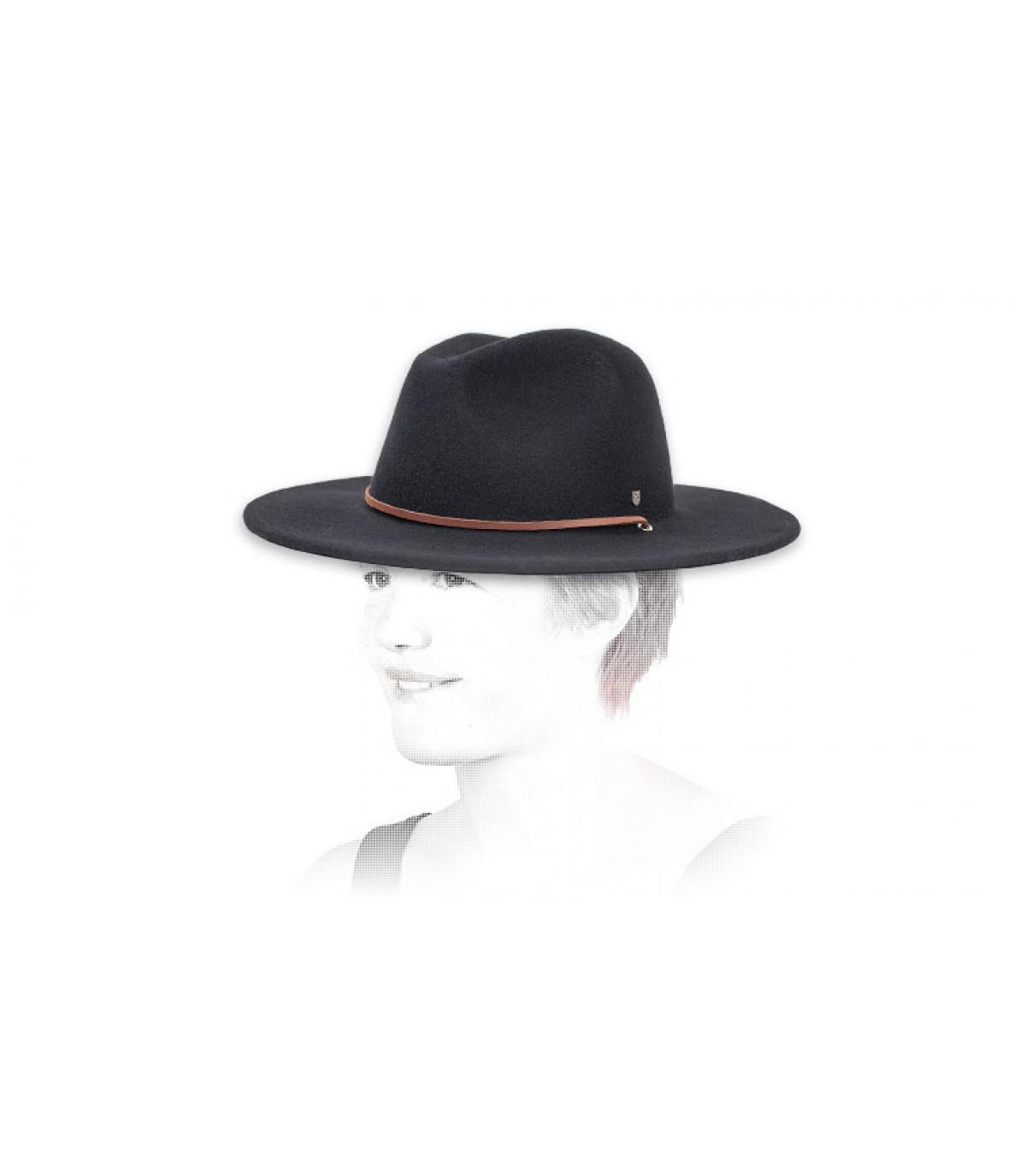 Zwarte fedora hoed