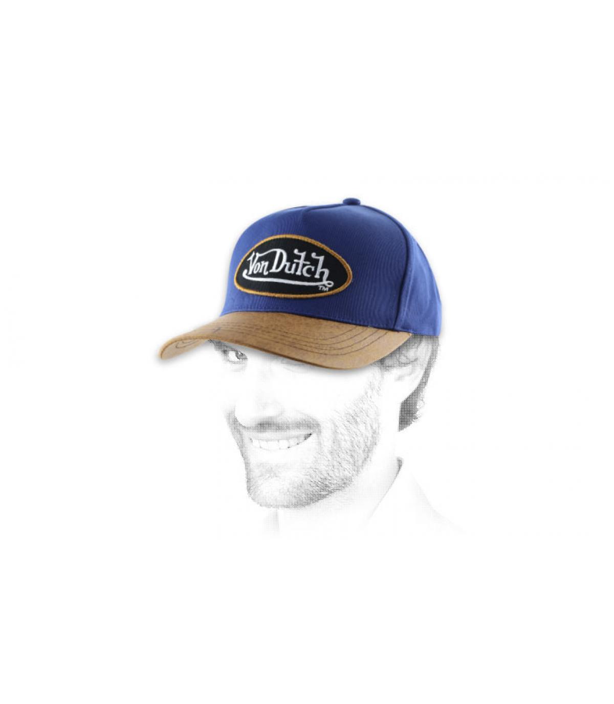 Von Dutch cap blauw lederen vizier.