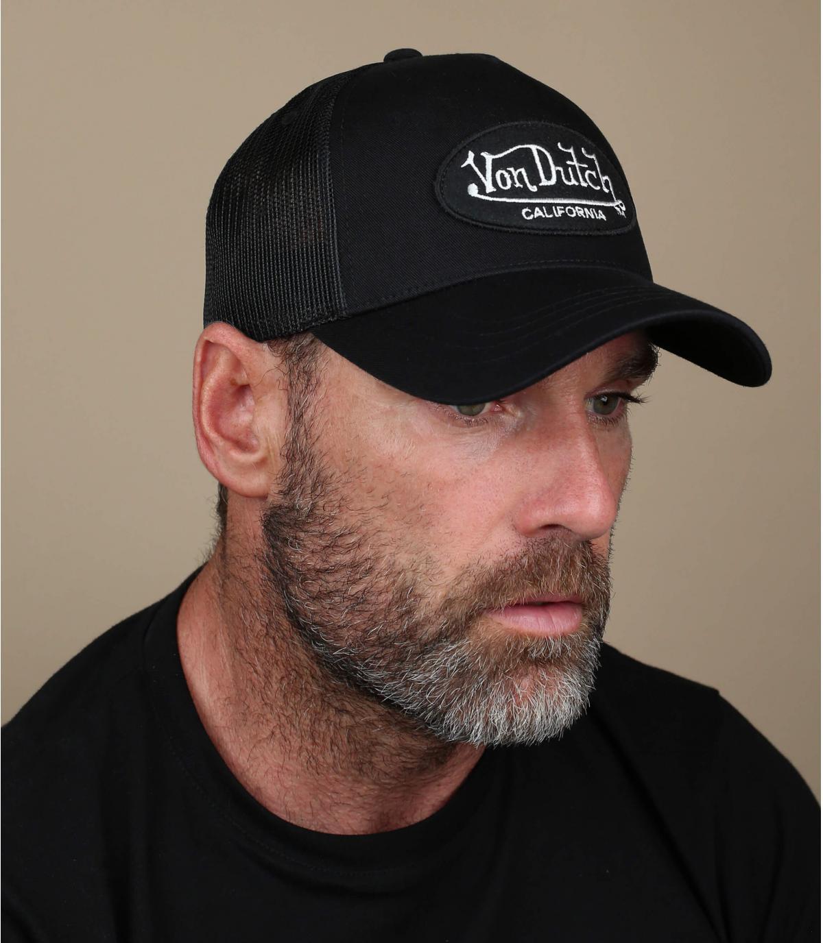 Von Dutch vrachtwagenchauffeur hoed zwart.
