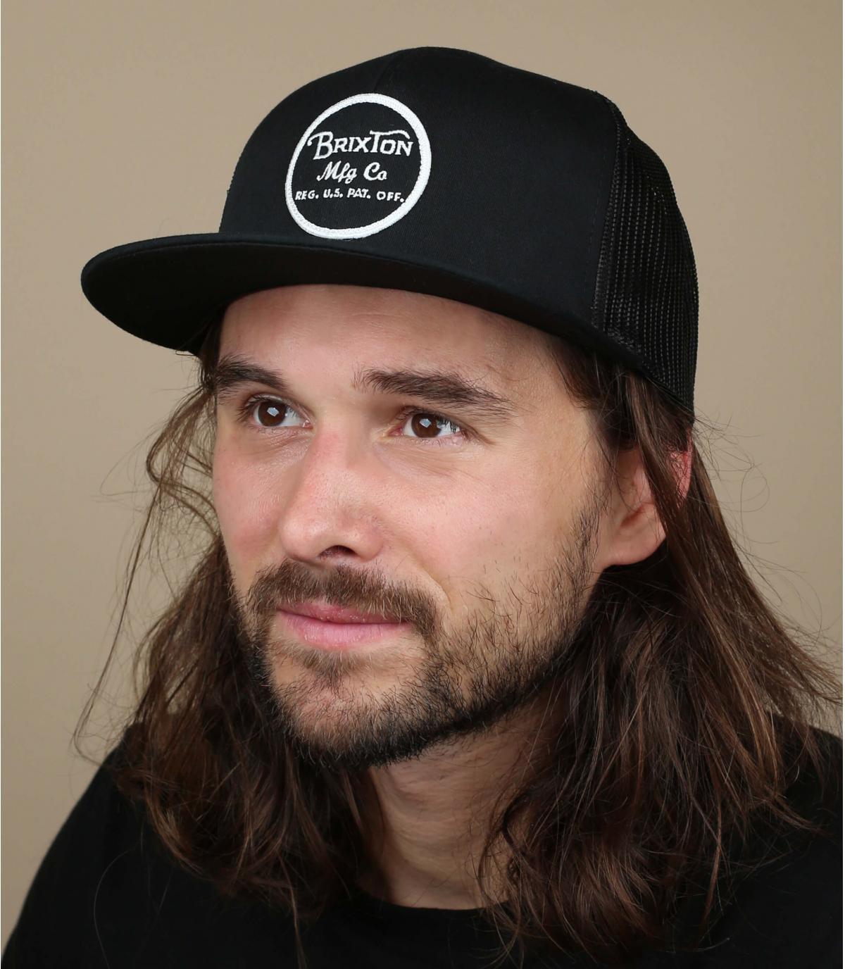 Zwarte trucker cap