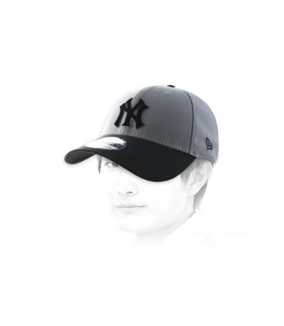 NY zwart grijs cap