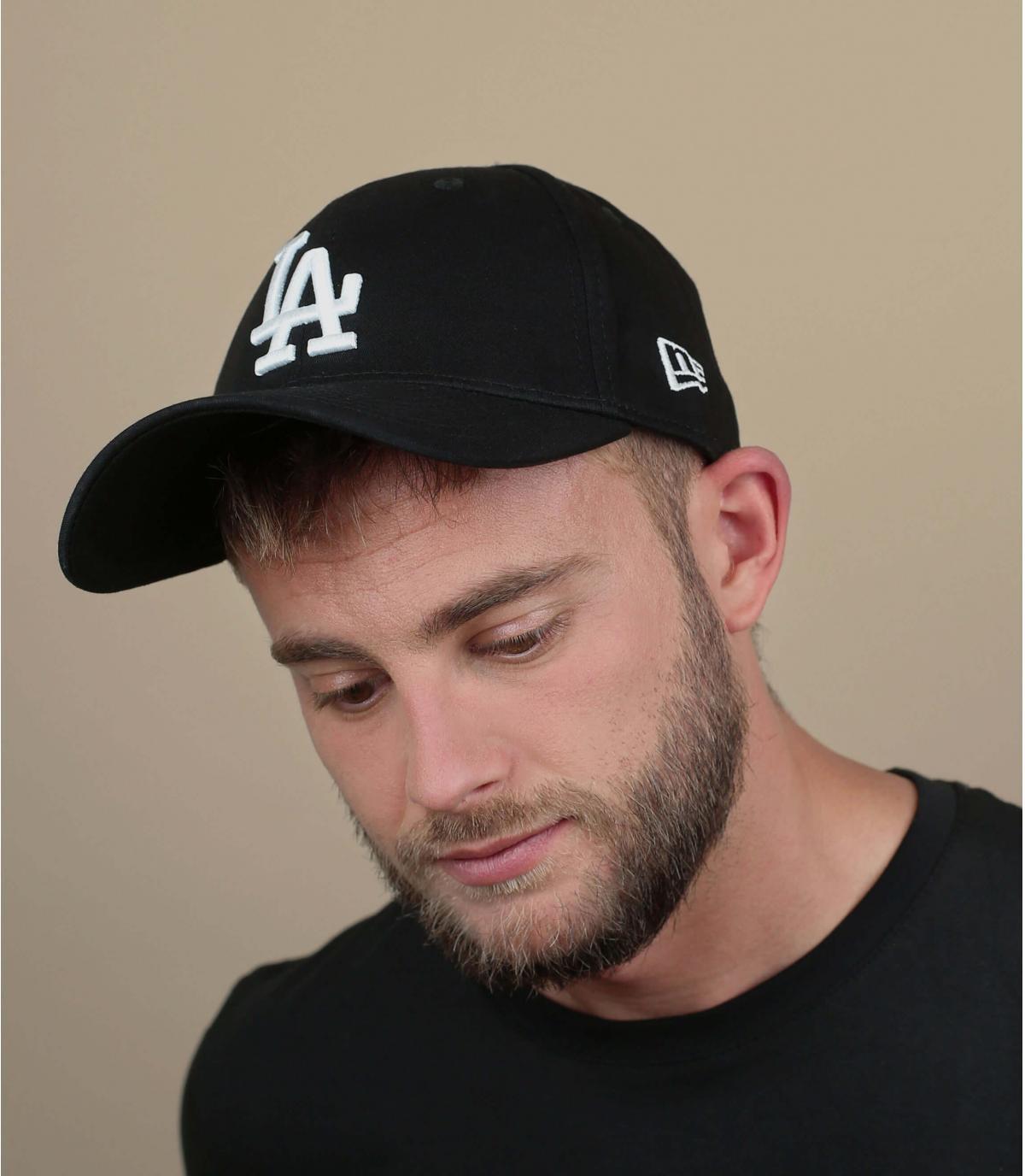 LA Black gebogen vizier cap