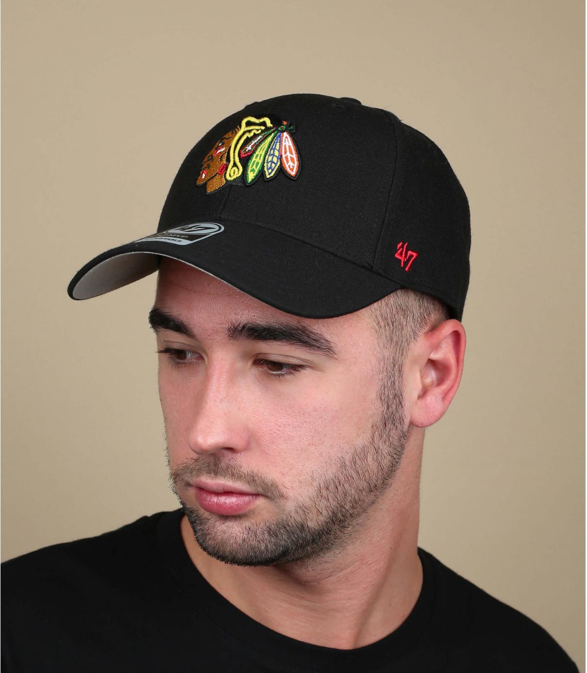 Black cap Blackhawks