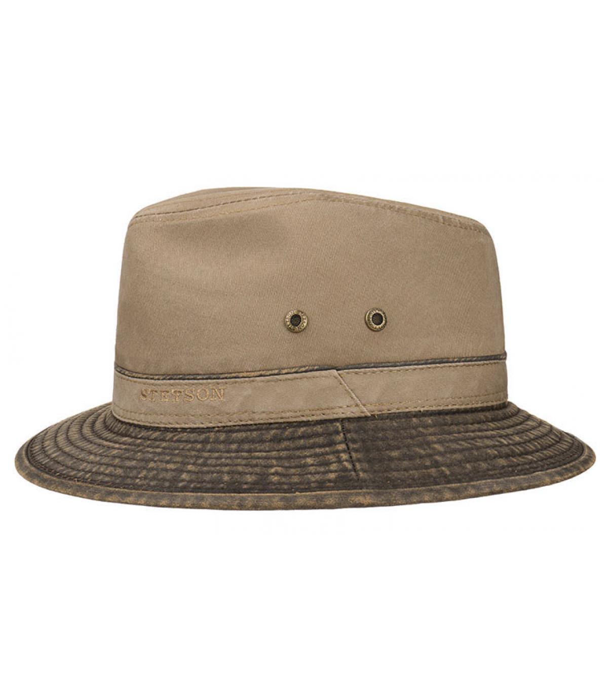 grijs katoenen reizen hoed