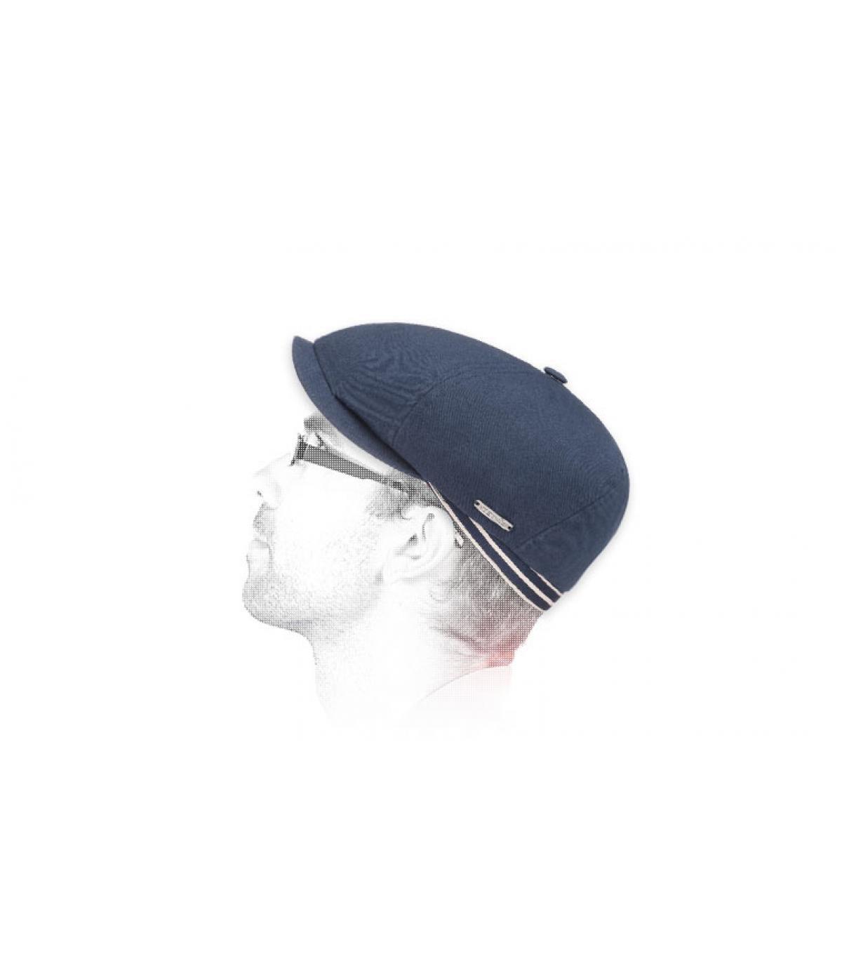 Stetson krantenverkoper cap navy