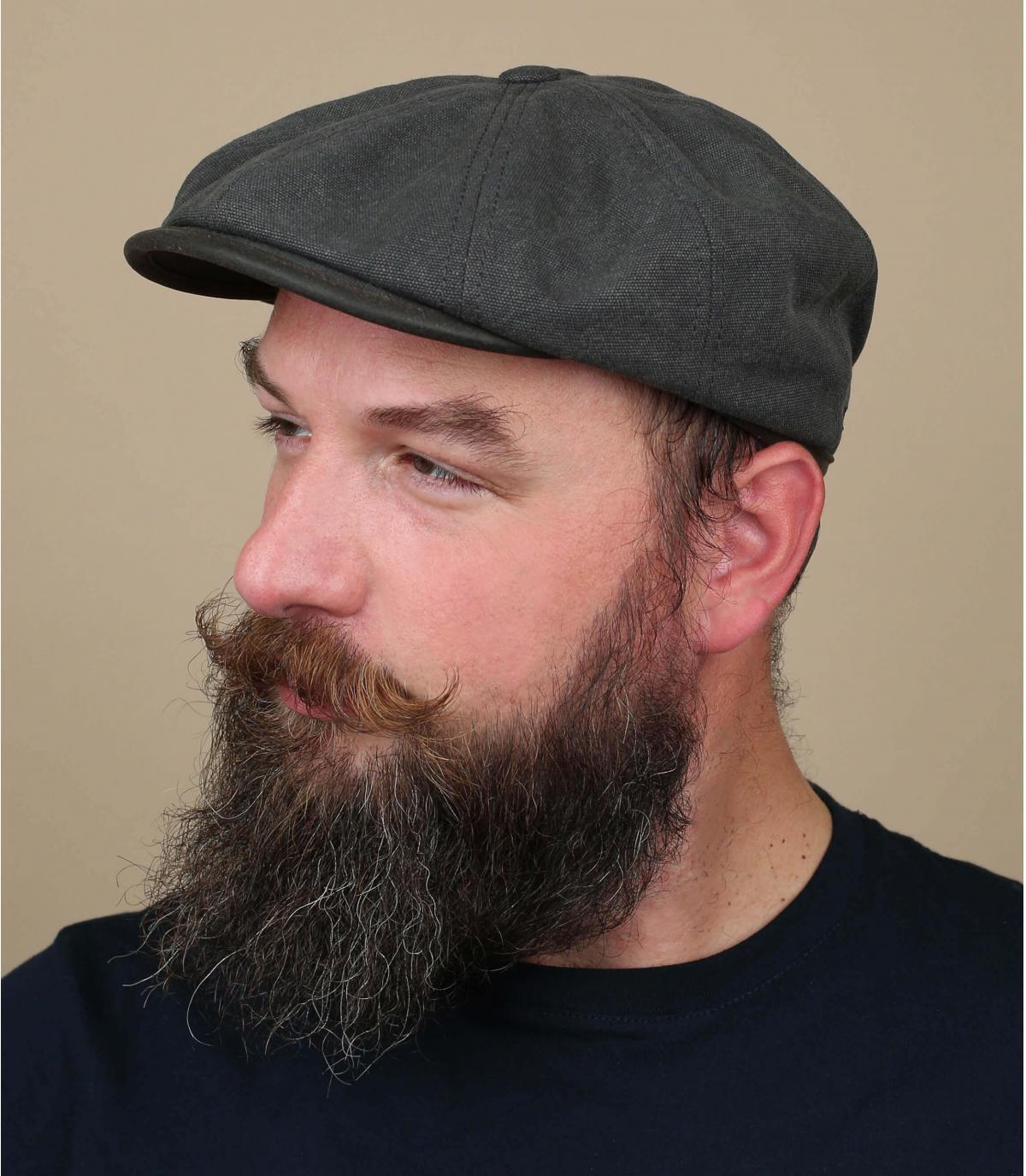 krantenverkoper cap zwart canvas