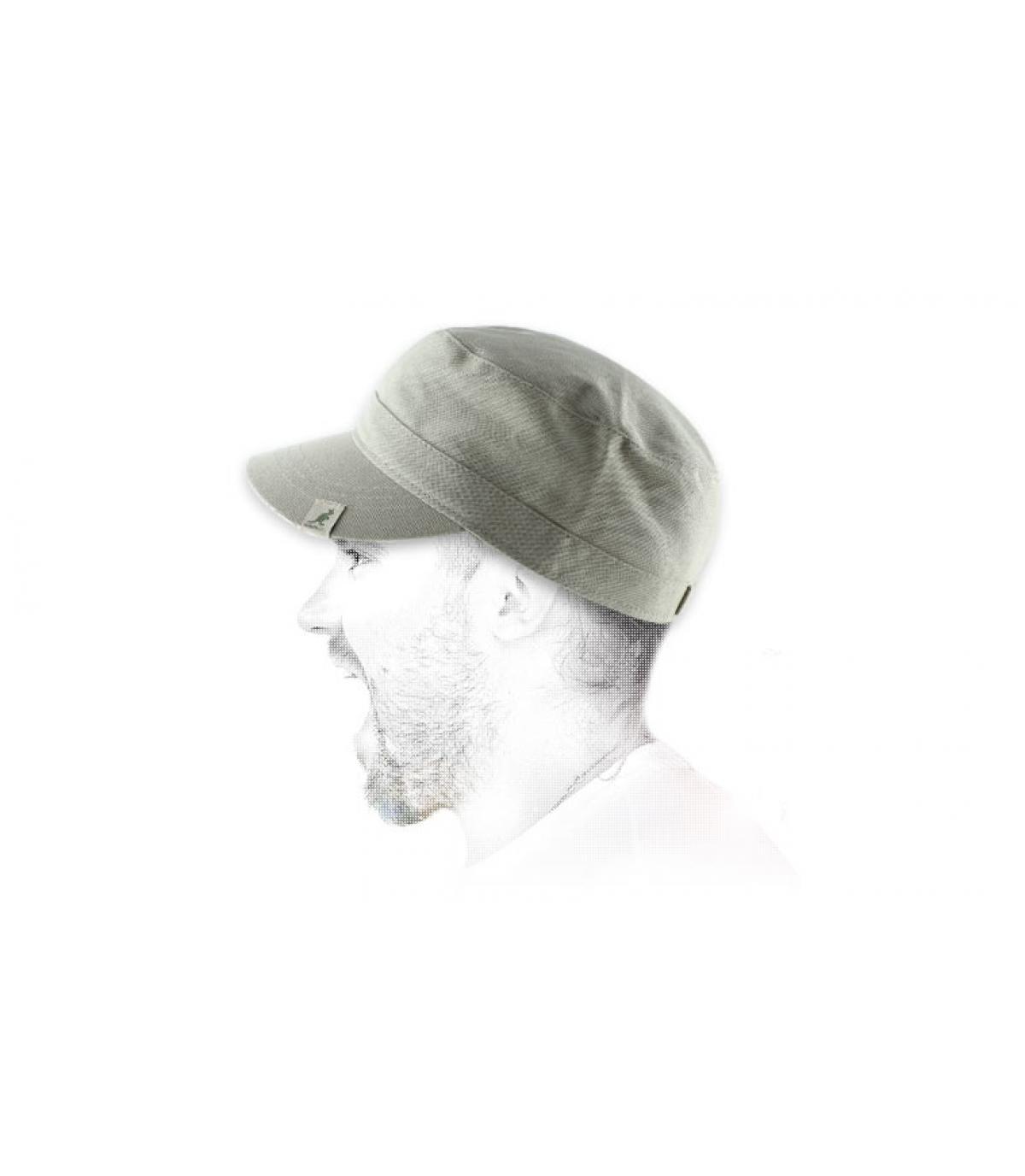 Kangol army cap beige