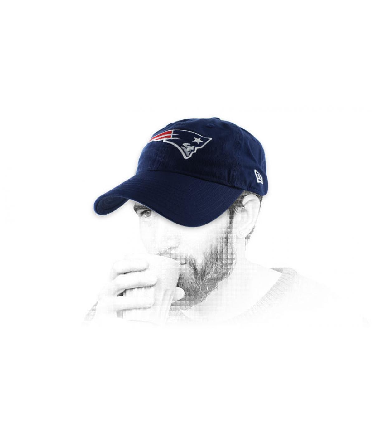Patriots cap blauwe curve