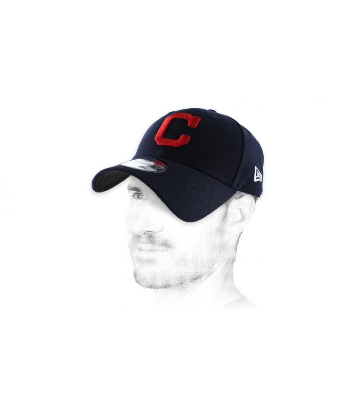 cap blue rode curve C