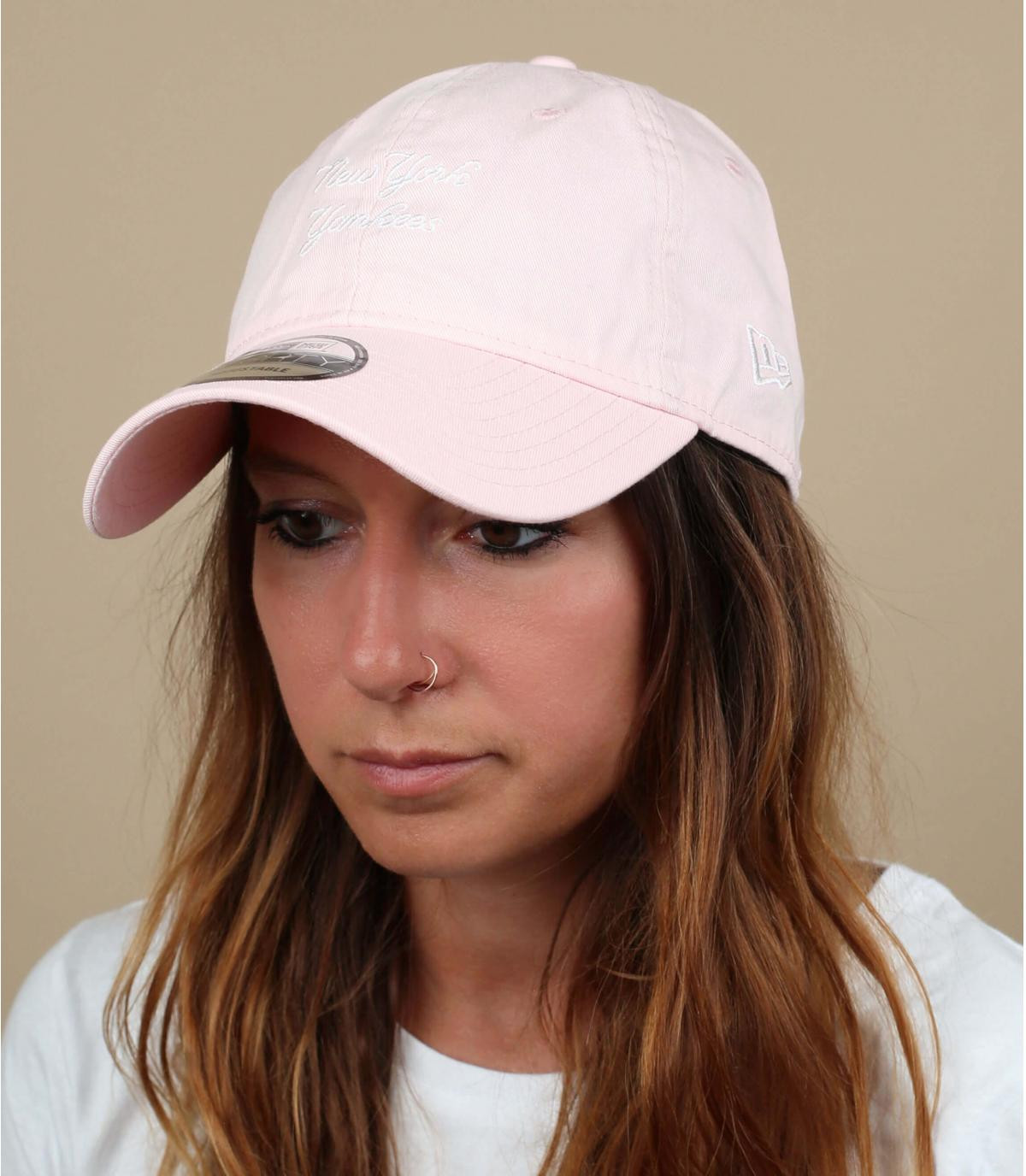 lichtroze Yankees cap