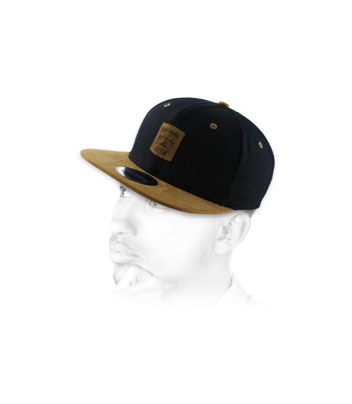 bruin zwart snapback Chifoumi
