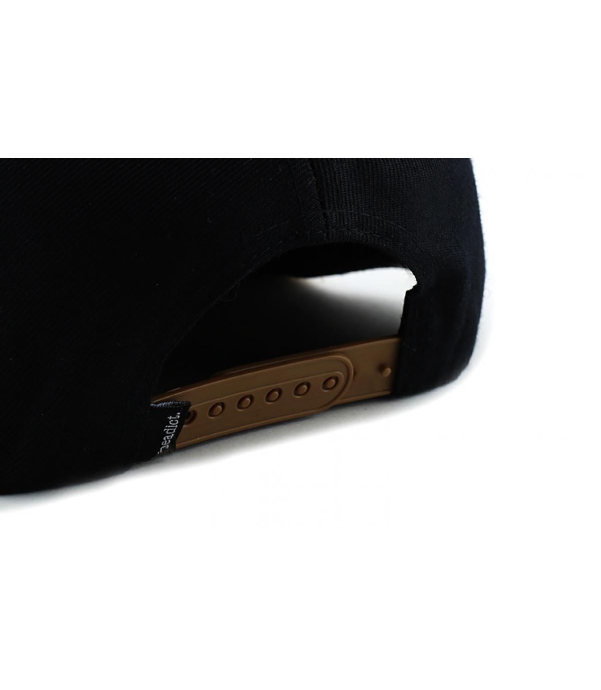 Details Snapback Chifoumi black brown - afbeeling 5