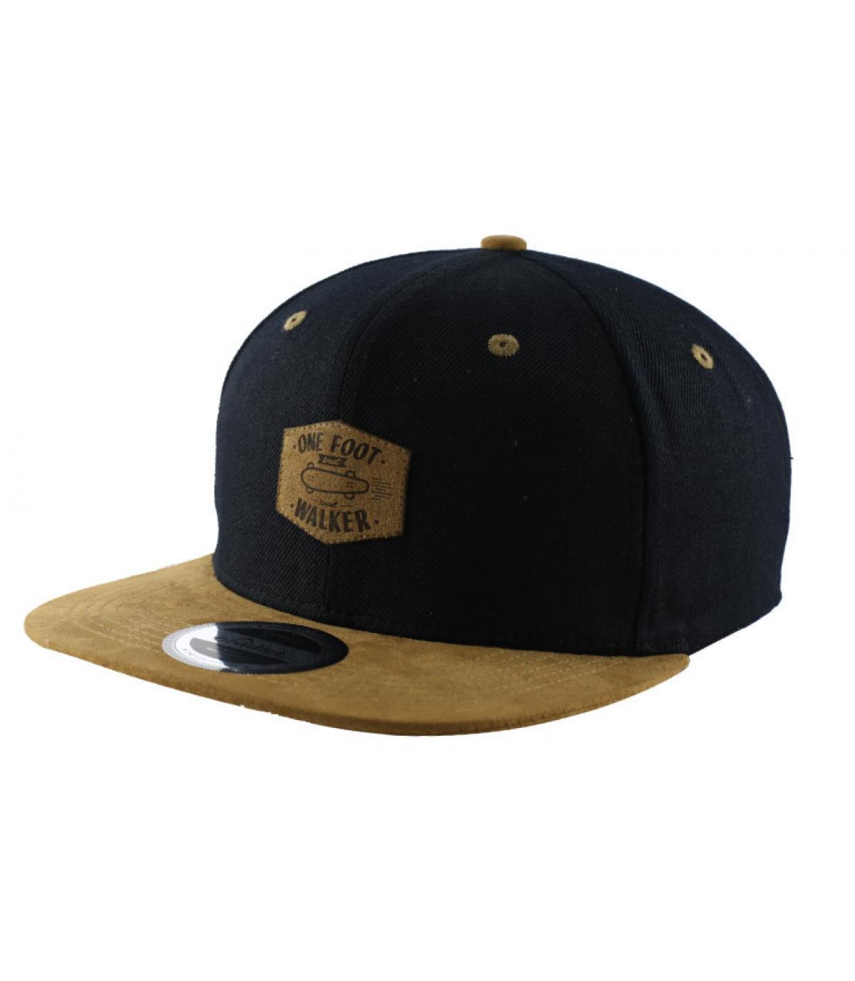 snapback bruin zwart skate