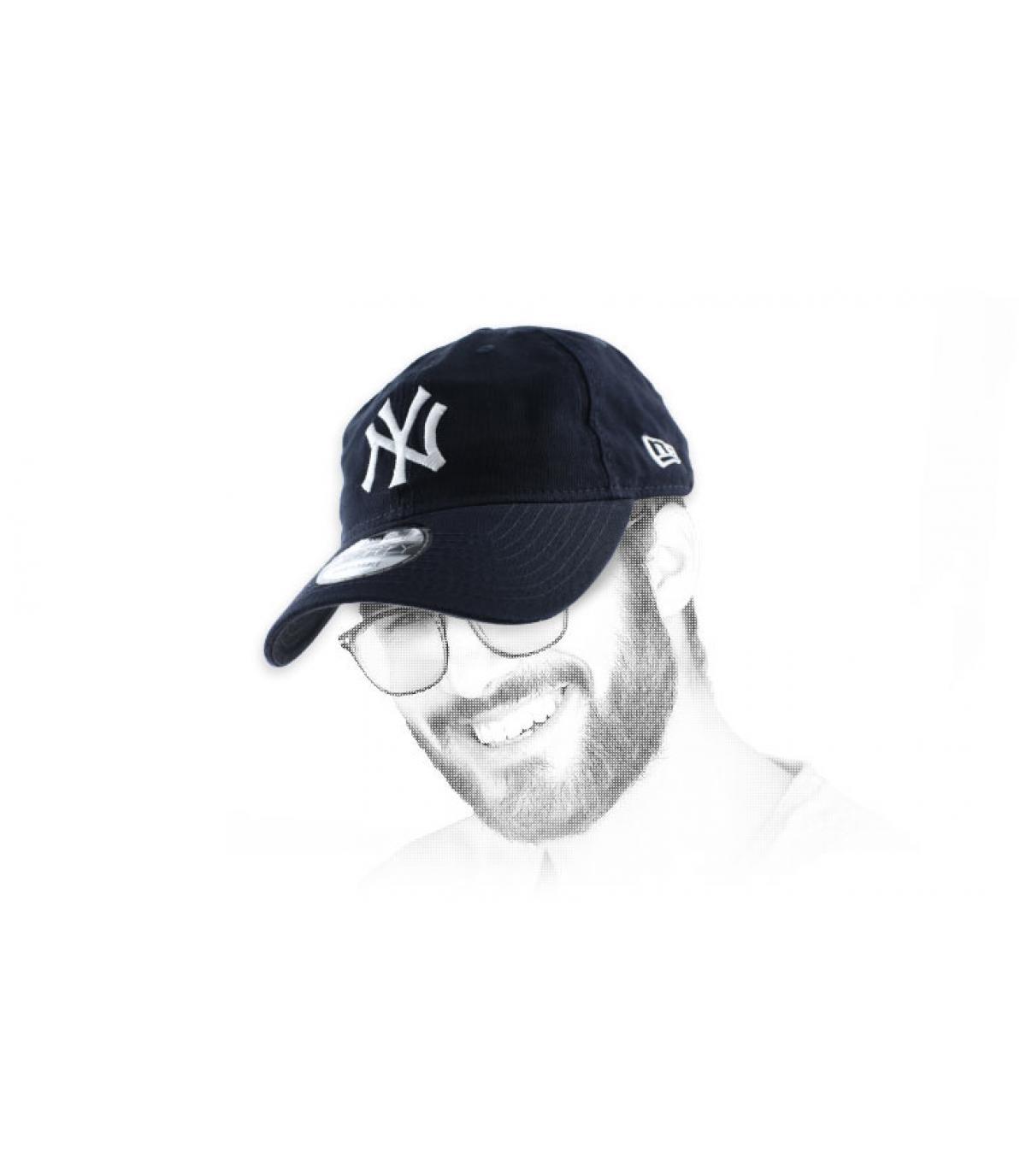 NY ongestructureerde cap blue