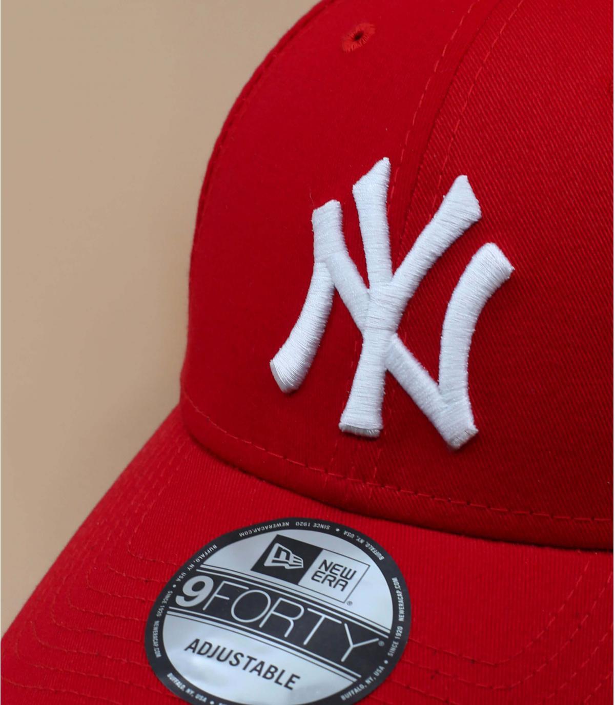 Details Trucker NY rood verstelbaar - afbeeling 4