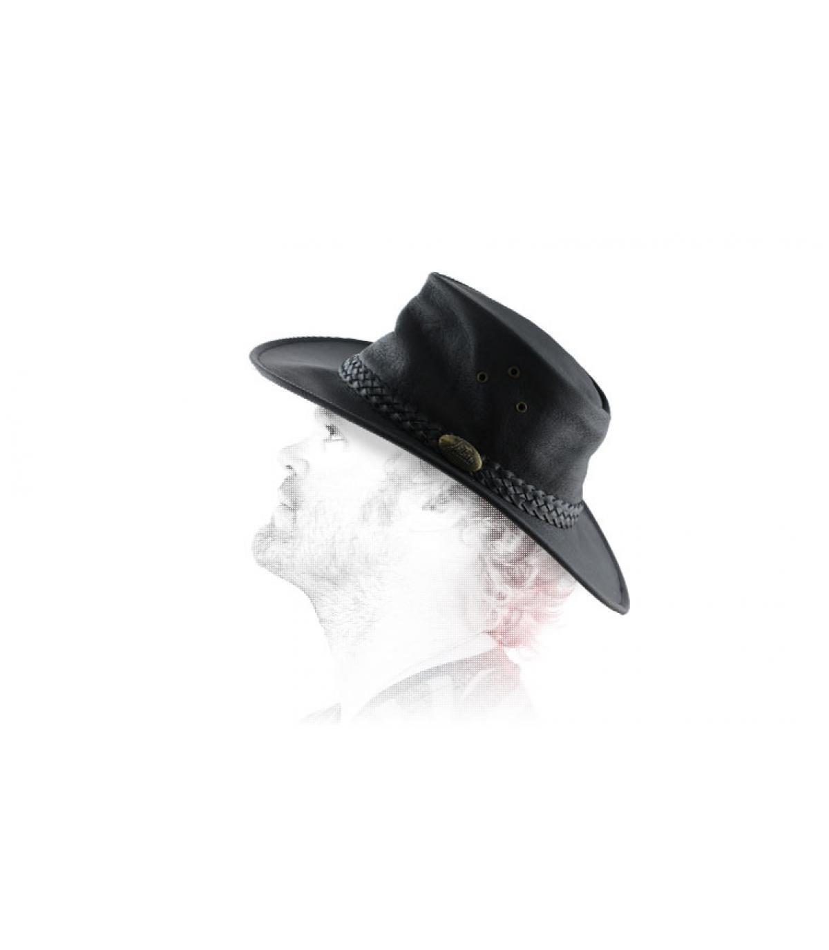 Australian geolied leren hoed