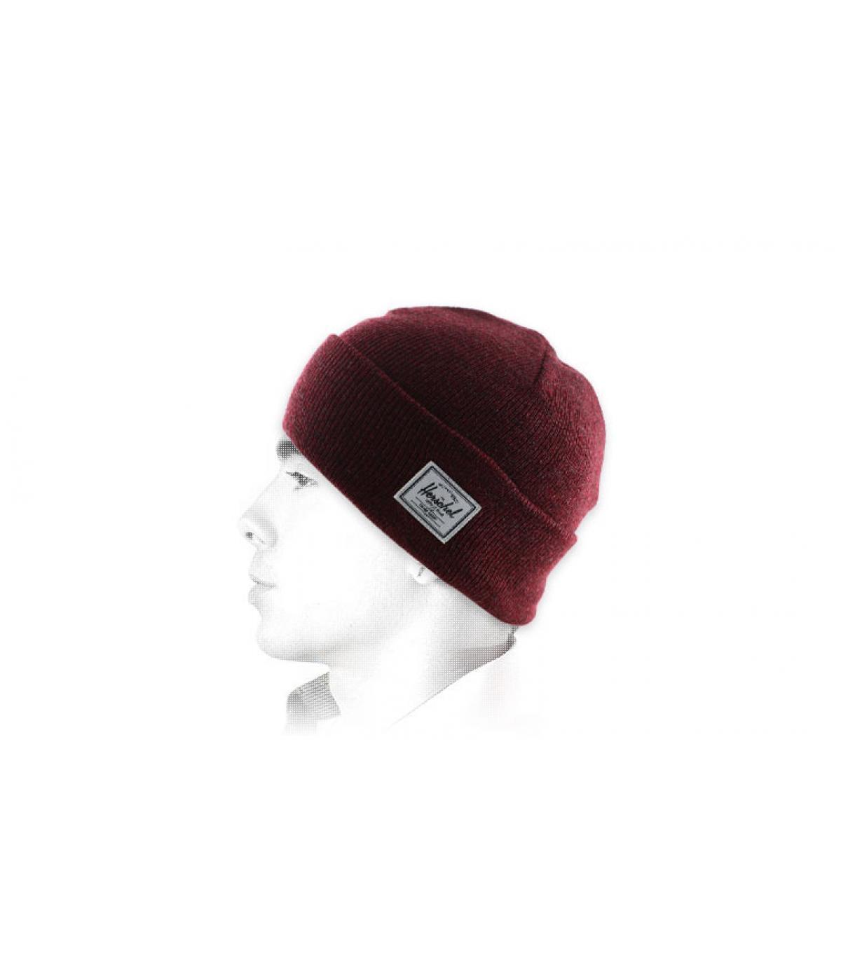 kastanjebruine hoed revers Herschel