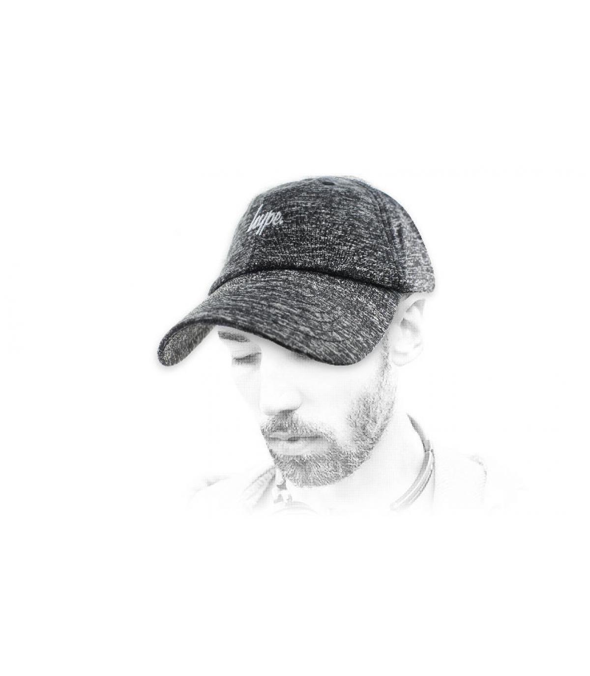Hype grijs gespikkeld cap