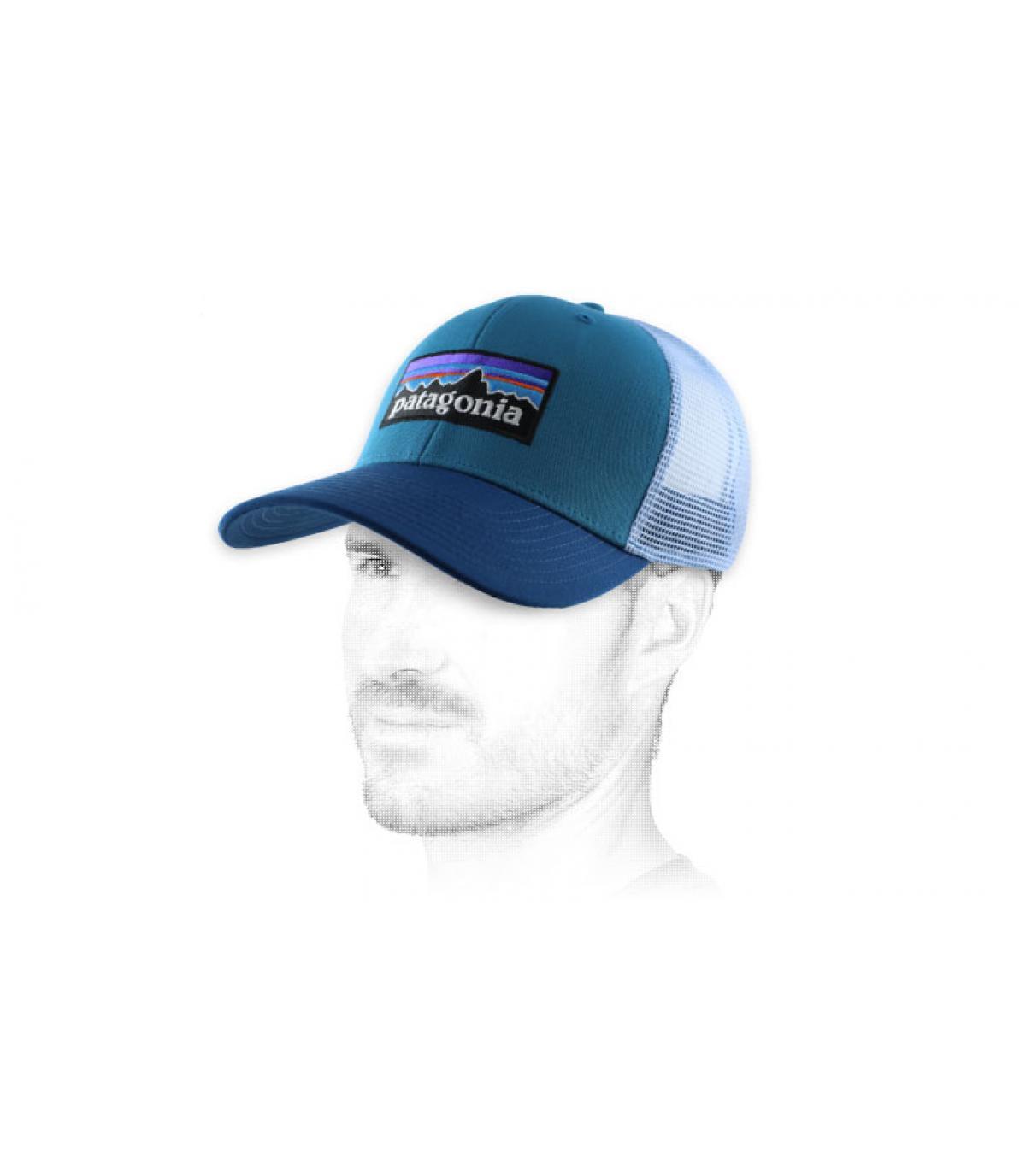 Patagonia blauw trucker