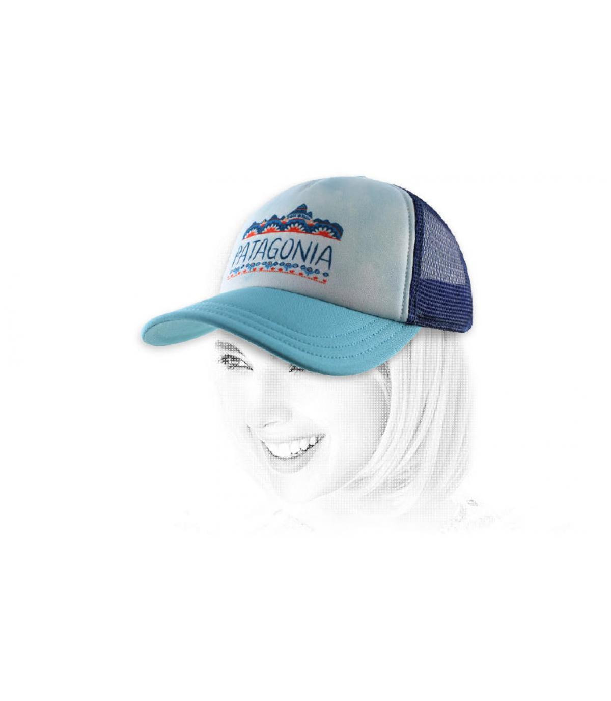 Patagonia cap blue vrouw