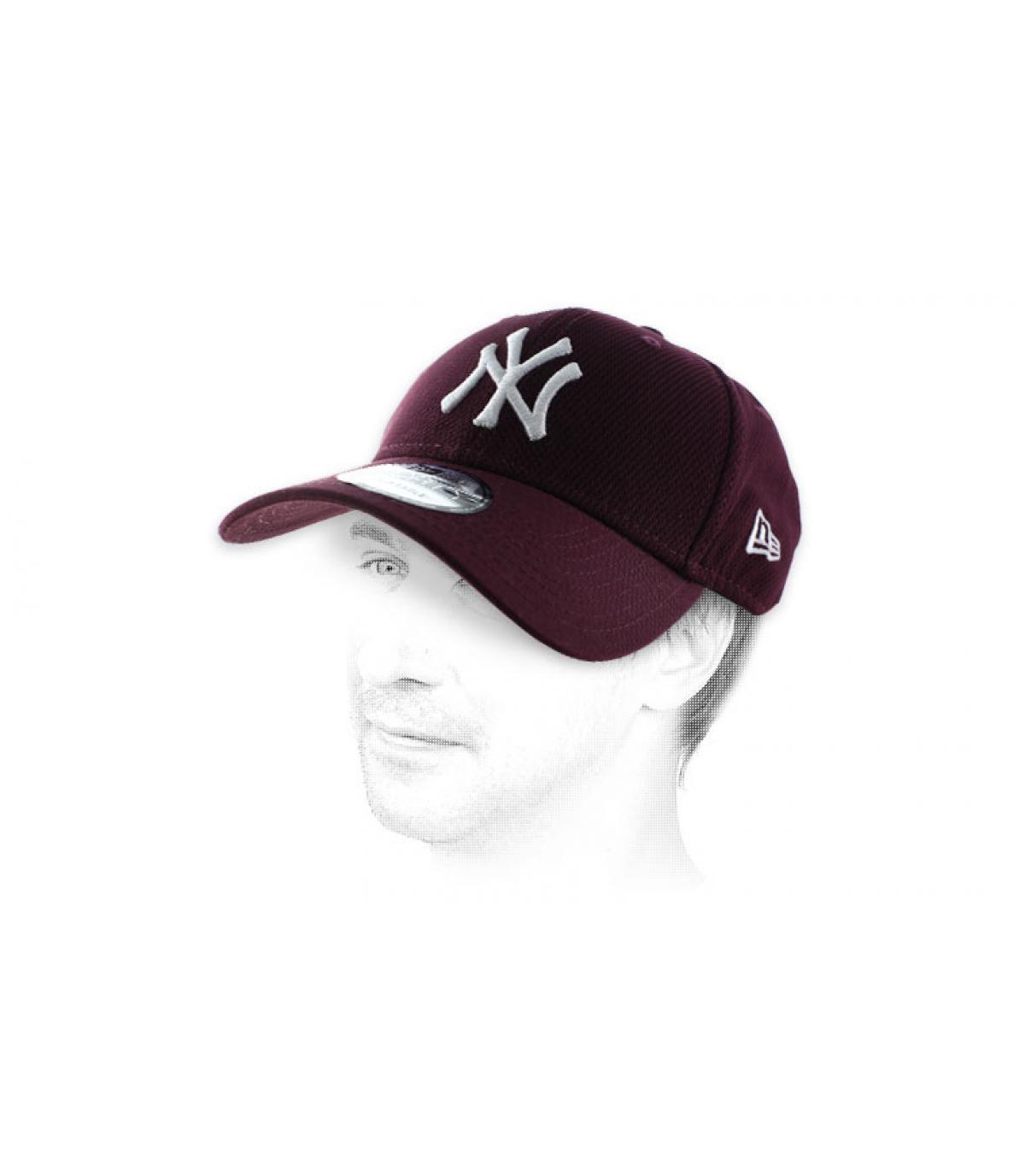 NY diamant bordeaux cap