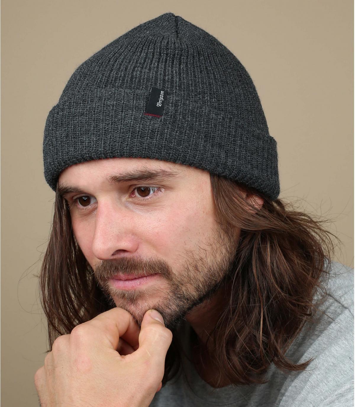 hoed revers grijs gevlekt Brixton