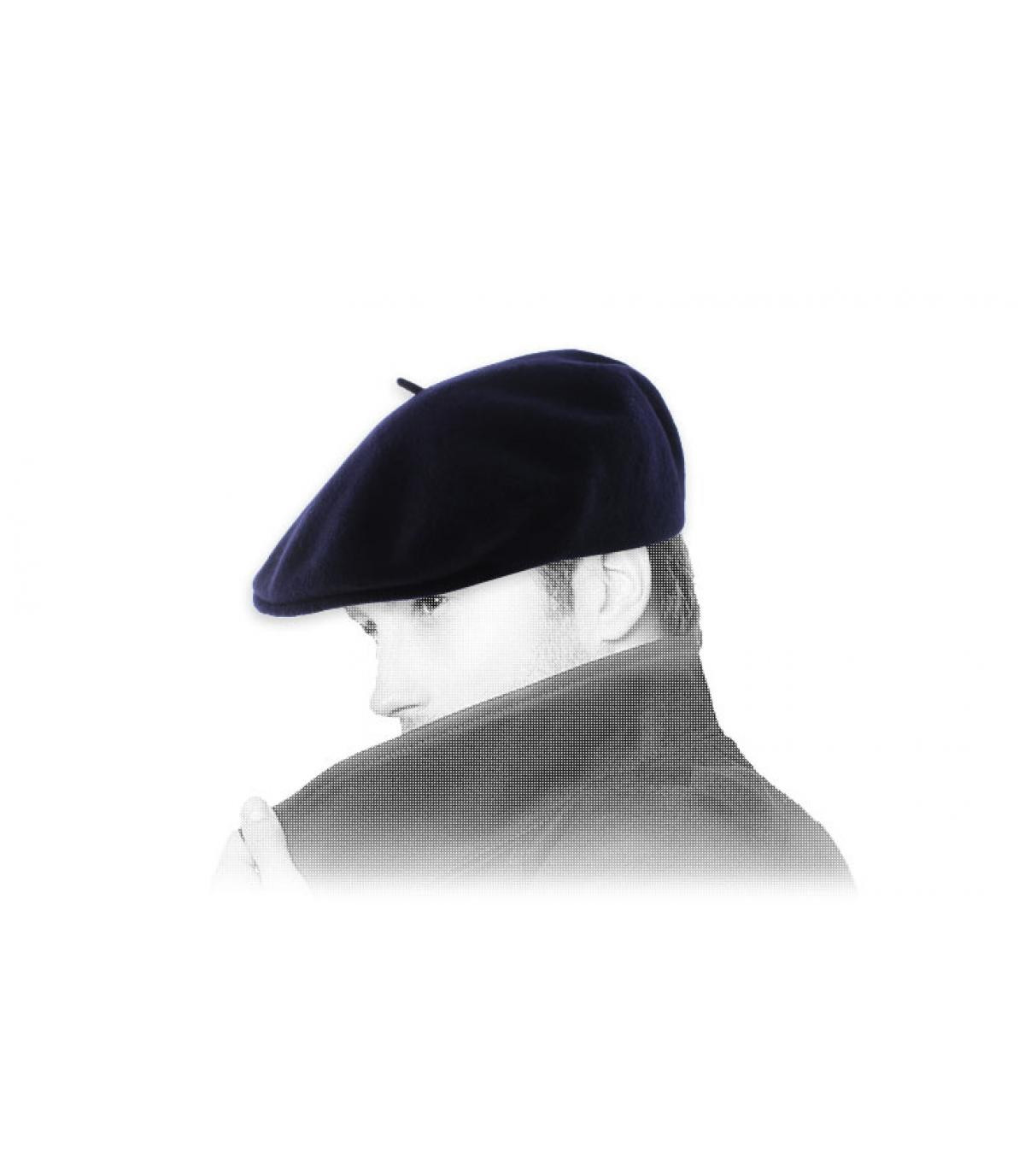 eendenbek marine Beret Laulhère