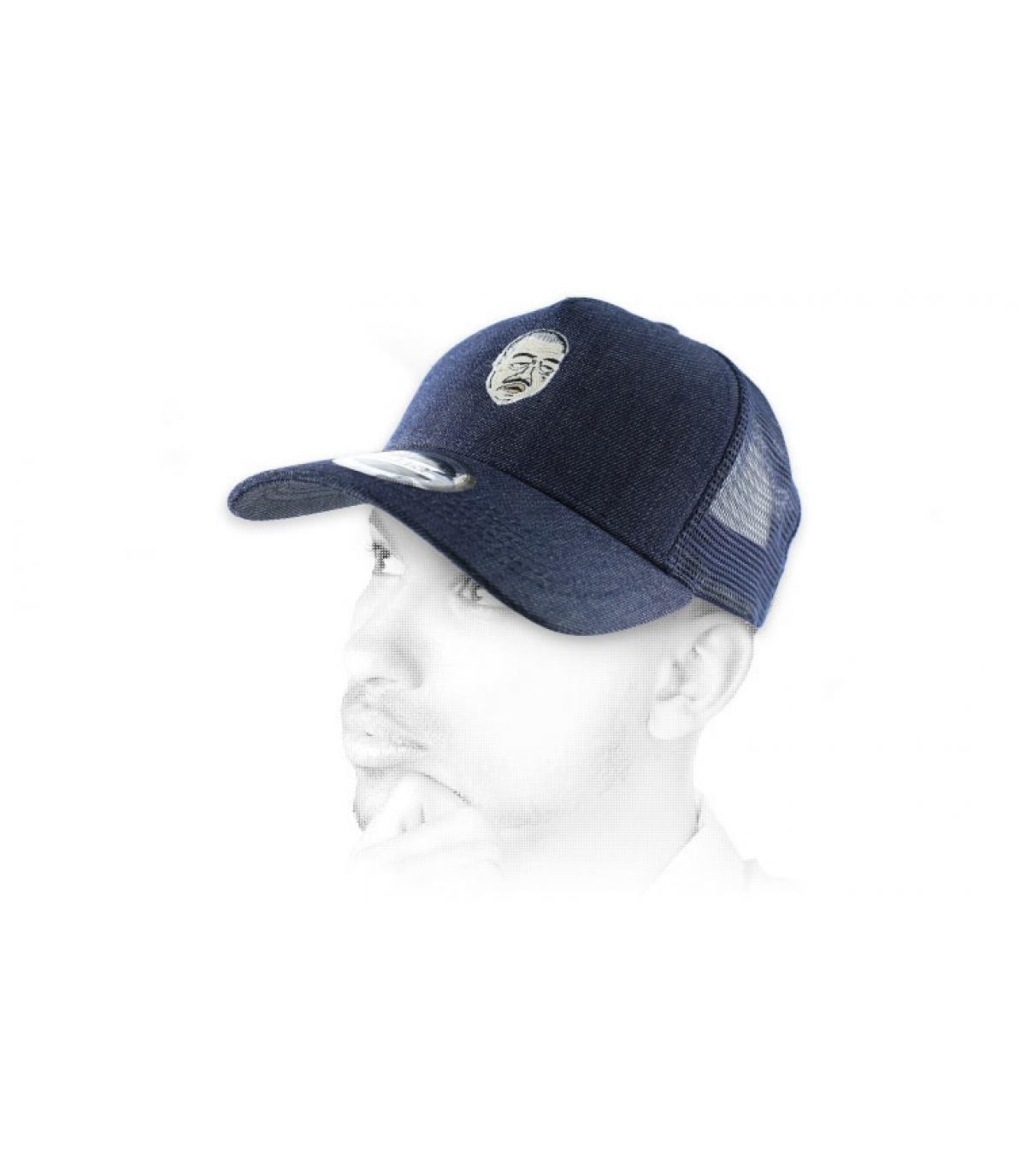 trucker Don Corleone blauw
