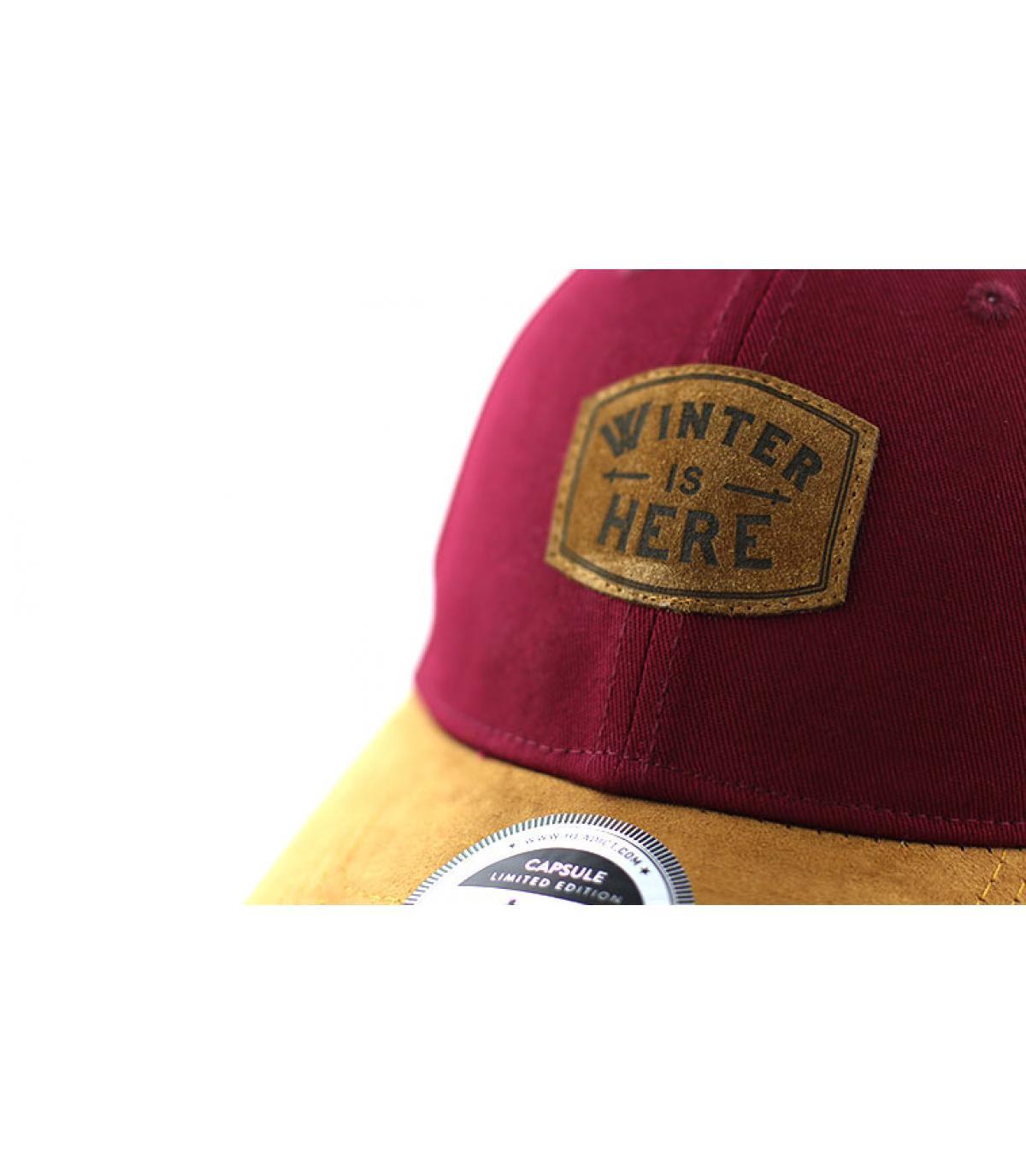 Details Curve Winter is Here burgundy brown - afbeeling 3