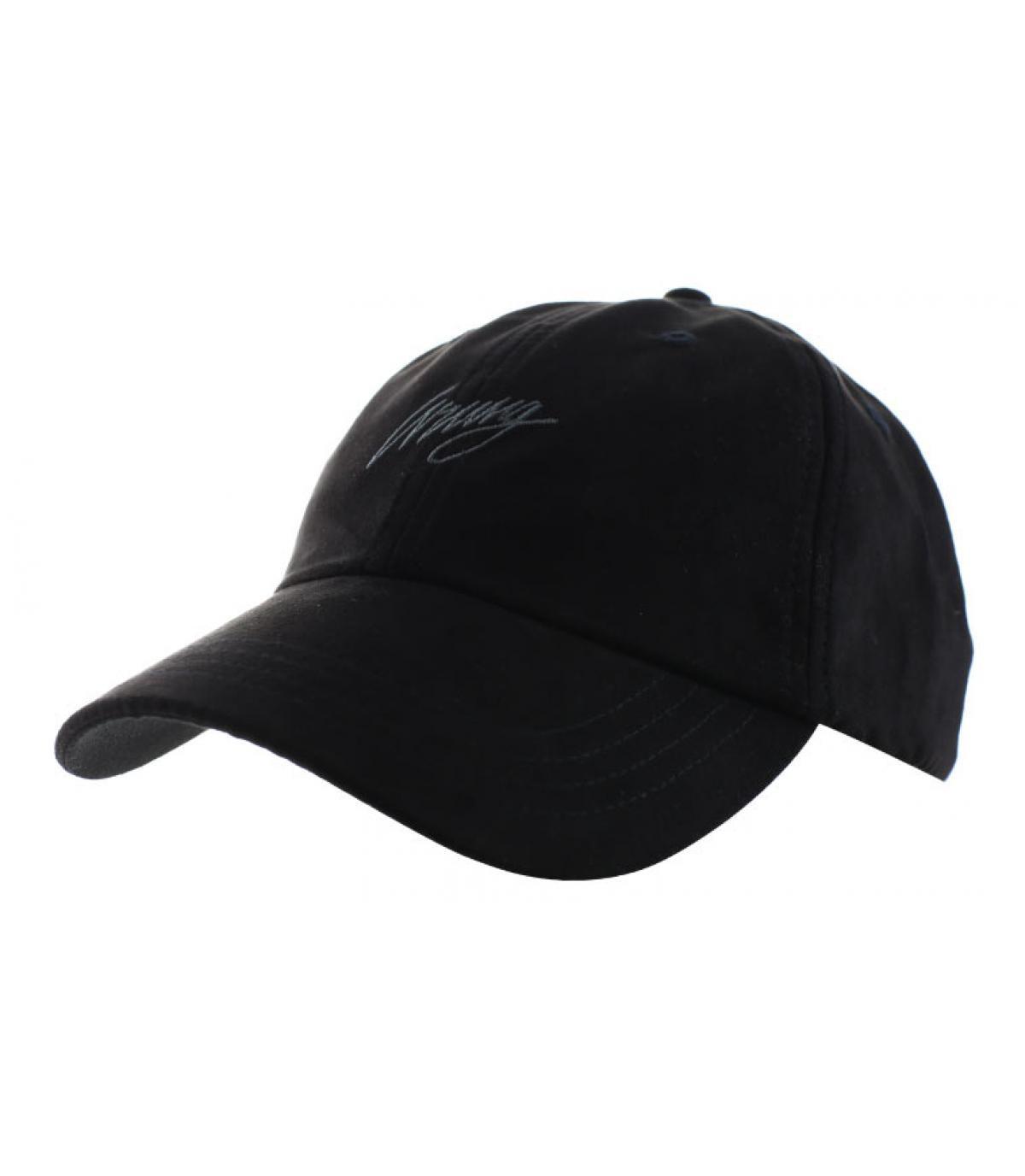 curve black suede cap