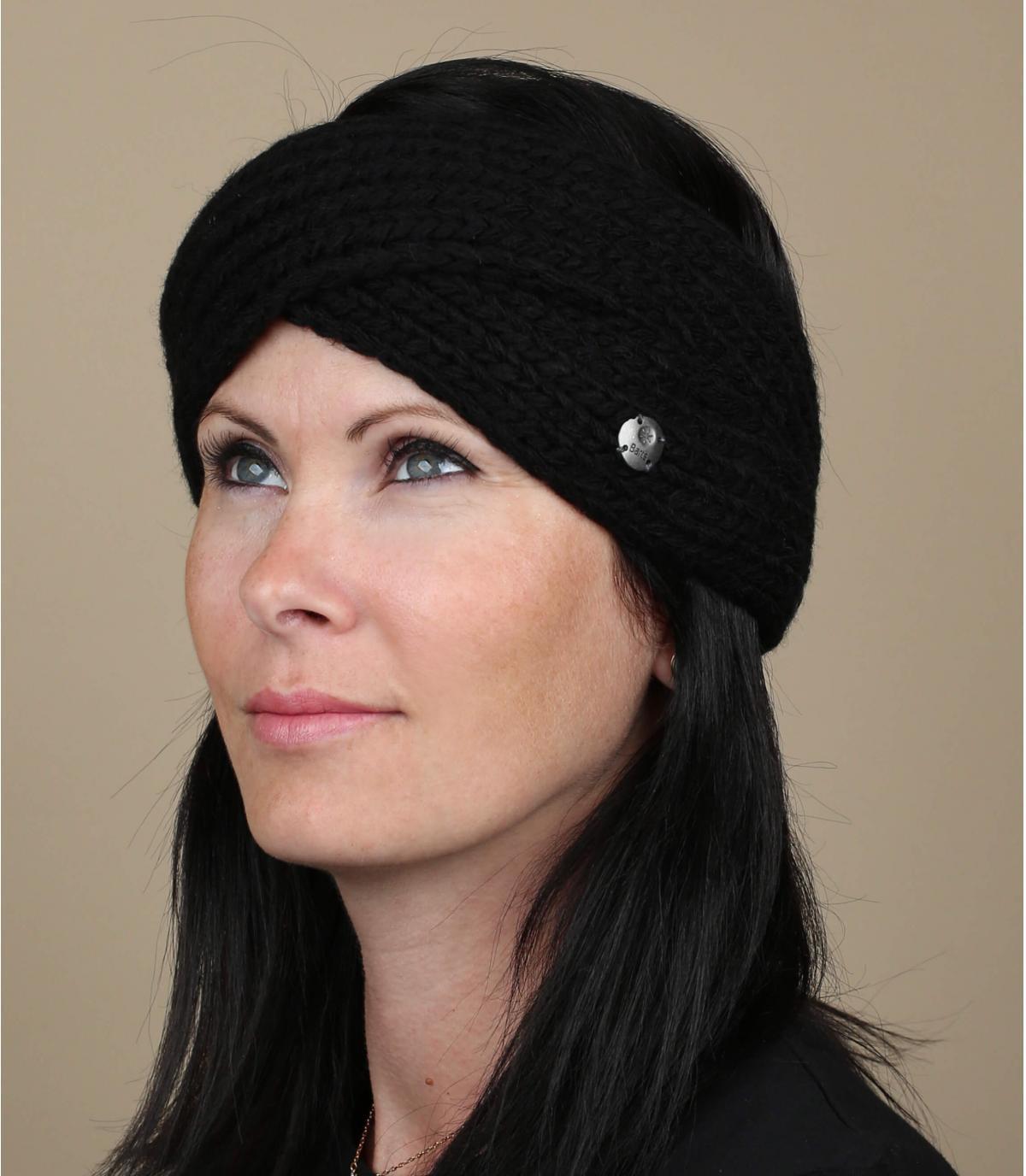 hoofdband gekruiste zwarte wollen