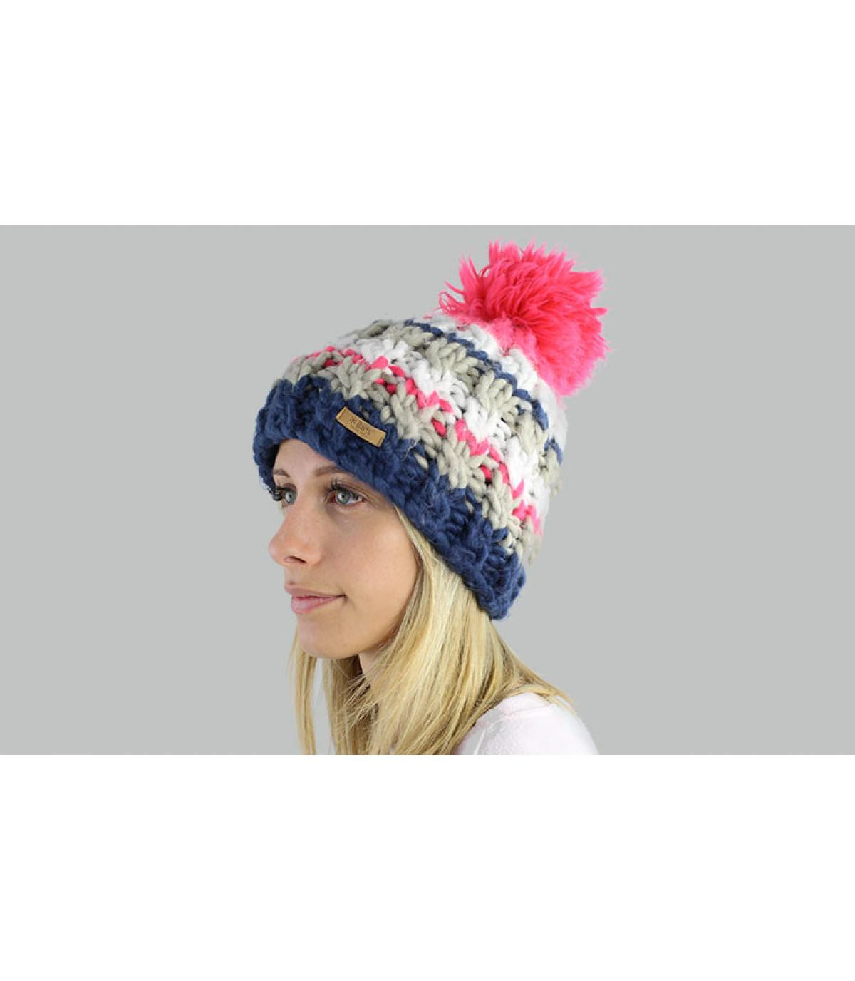 hoed roze pompom Barts