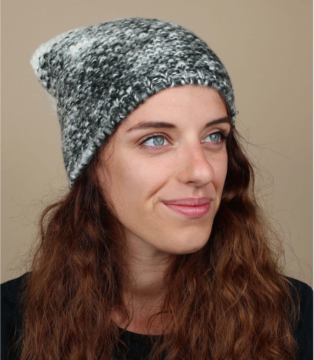 two-tone grijze kwastje cap