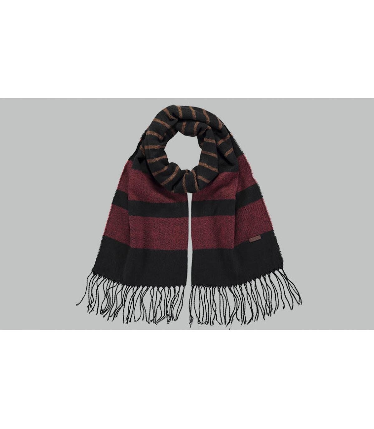 zwart gestreept beige sjaal