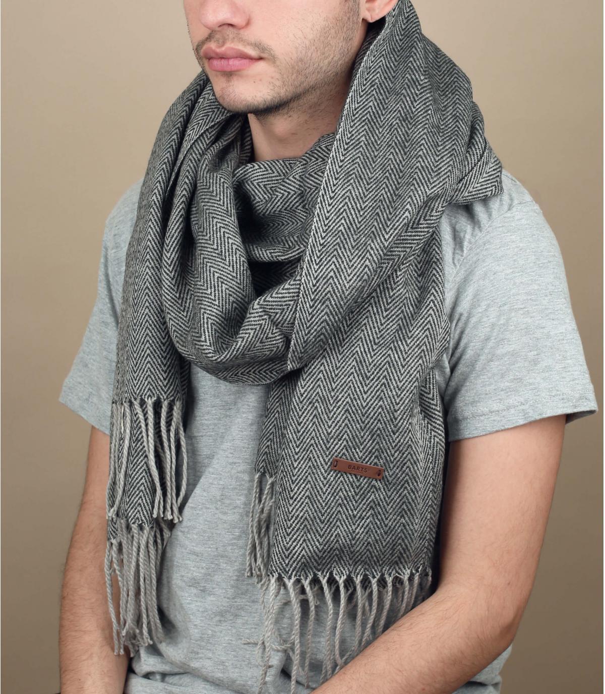 verenigde grijs omzoomde sjaal