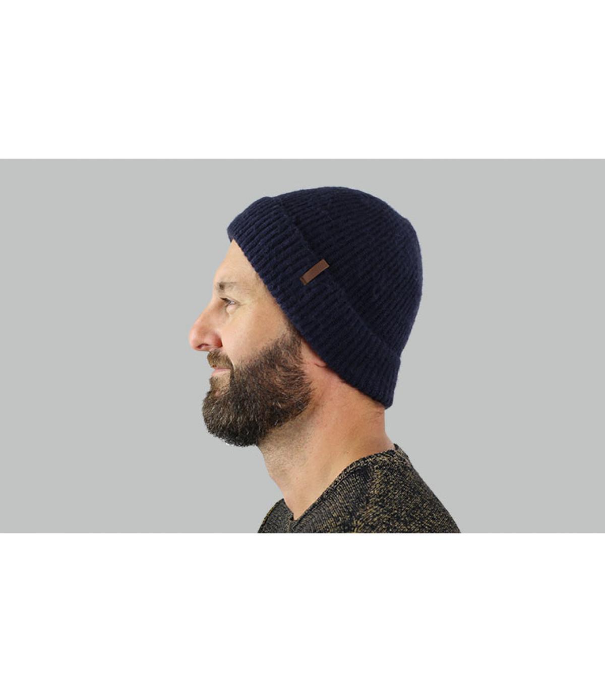 hoed revers blauw kust